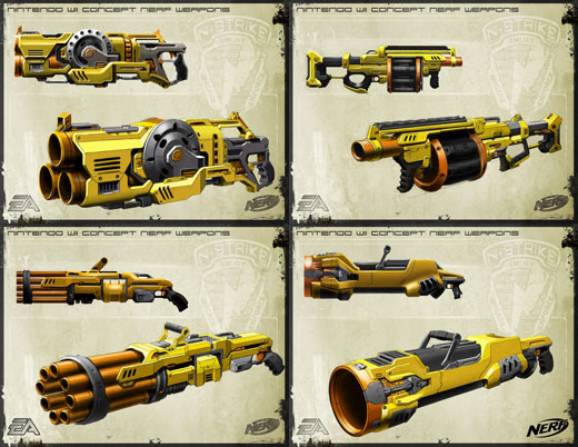 These totally kick ass Nerf gun designs unfortunately only exist in a video  game (and seriously, why would you make a video game about fake guns?